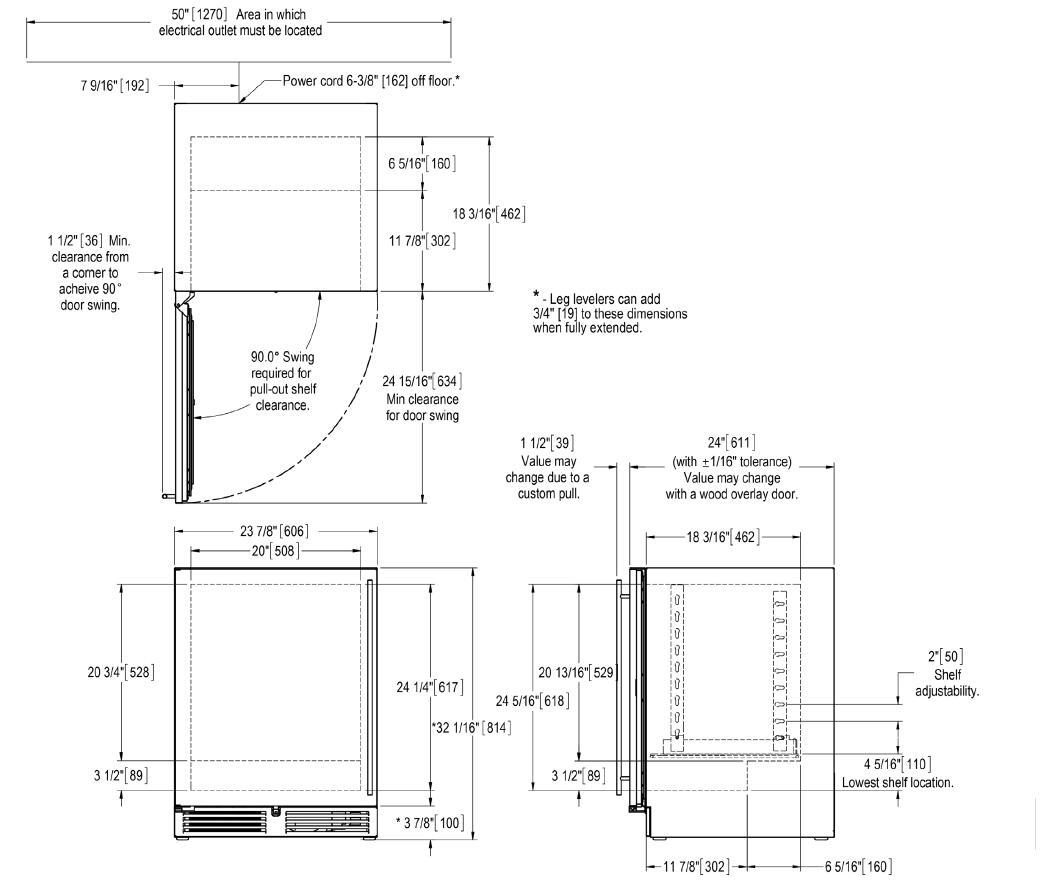 perlick ha24bb 3 24 ada compliant undercounter beverage center with rh appliancesconnection com 3-Way Switch Wiring Diagram Wiring Diagram Symbols