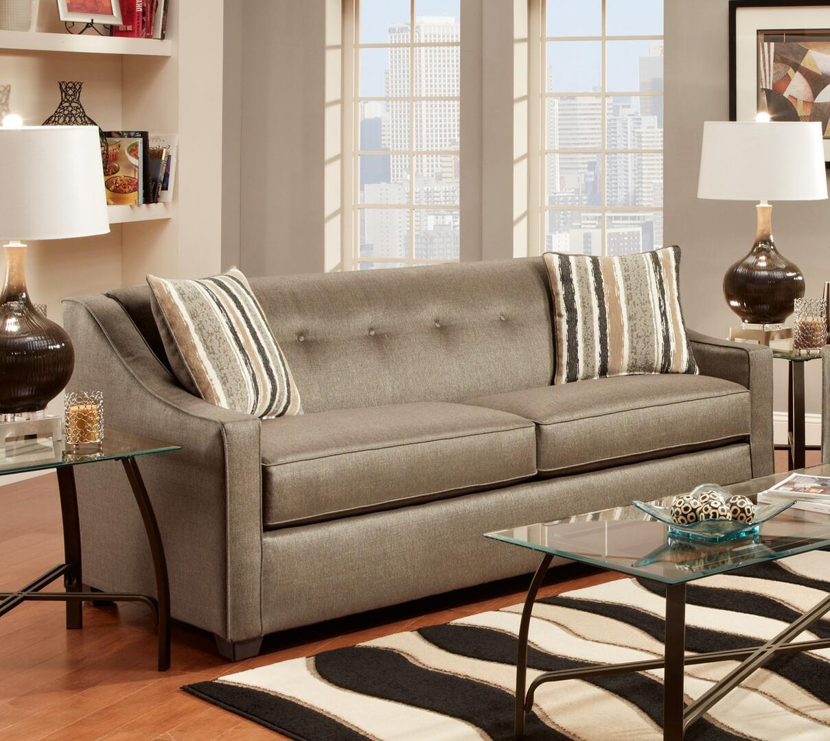 Chelsea Home Furniture 475440s Brittany Sofa With 16 Gauge Border Wire Kiln Dried Hardwood
