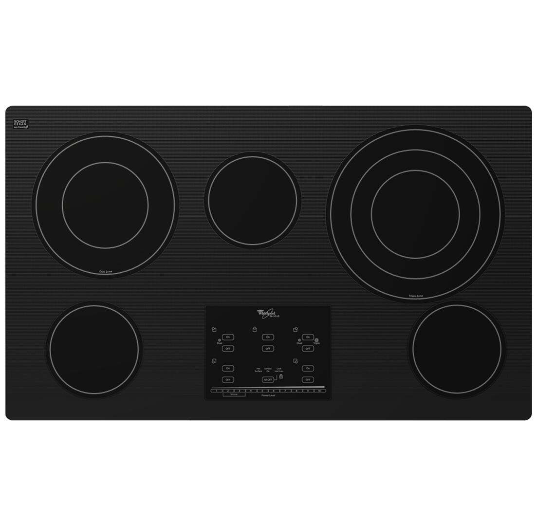 whirlpool g9ce3675xb 36 inch gold series electric cooktop in black appliances connection. Black Bedroom Furniture Sets. Home Design Ideas