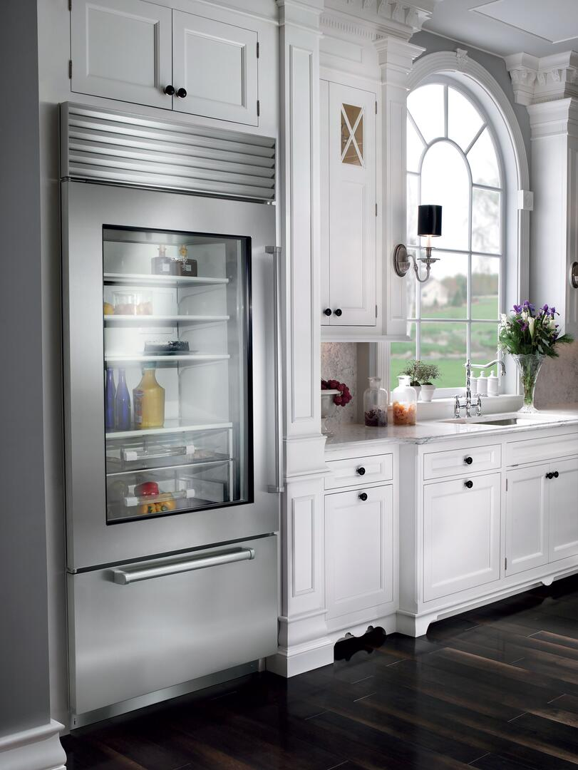 Sub zero counter depth refrigerator -  Sub Zero Stainless Steel Model Sample Installation