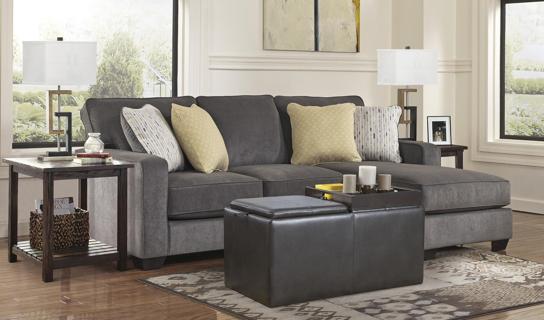 ... Signature Design By Ashley Hodan Sofa Chaise Shown With Ottoman ...