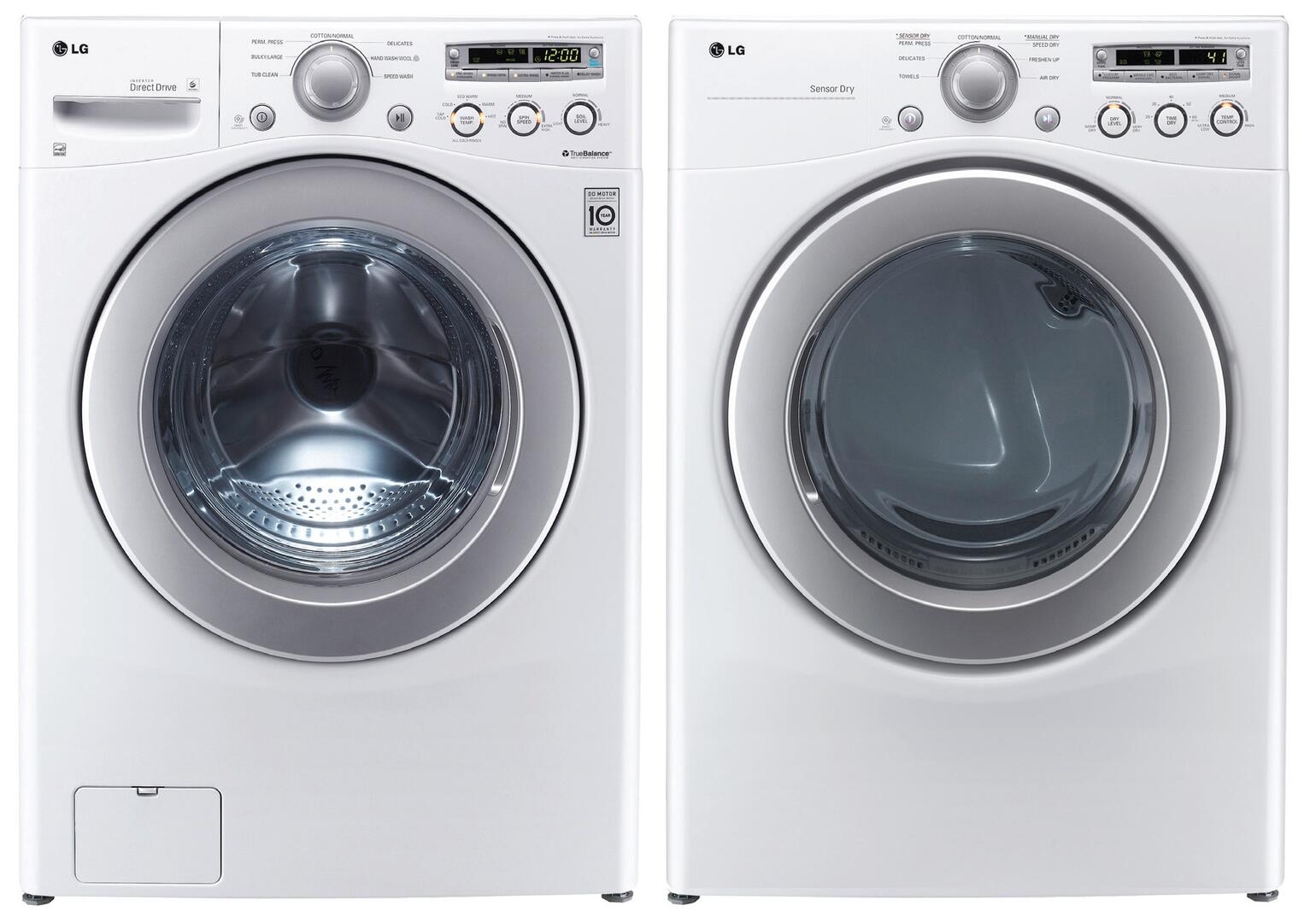 Lg Dle2250w Electric Dryer In White Appliances Connection