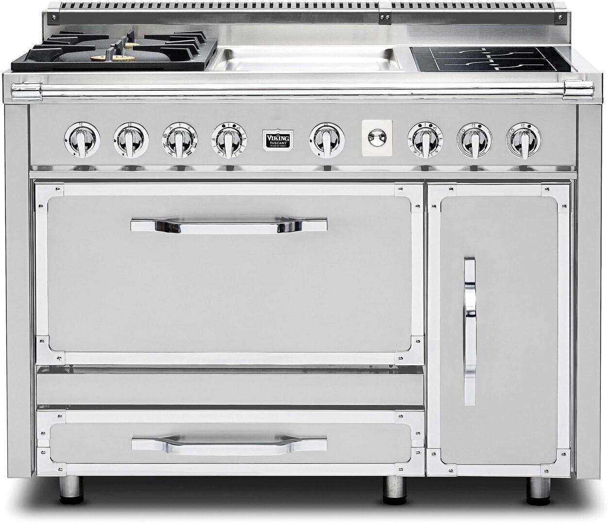 Viking TVDR4802GISS 48 Inch Tuscany Series Dual Fuel Freestanding ...