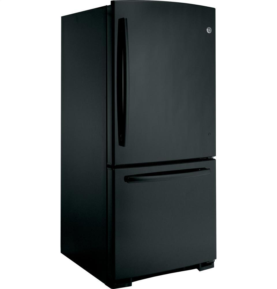 Ge Gbs20eghbb 30 Inch Bottom Freezer Refrigerator With 20