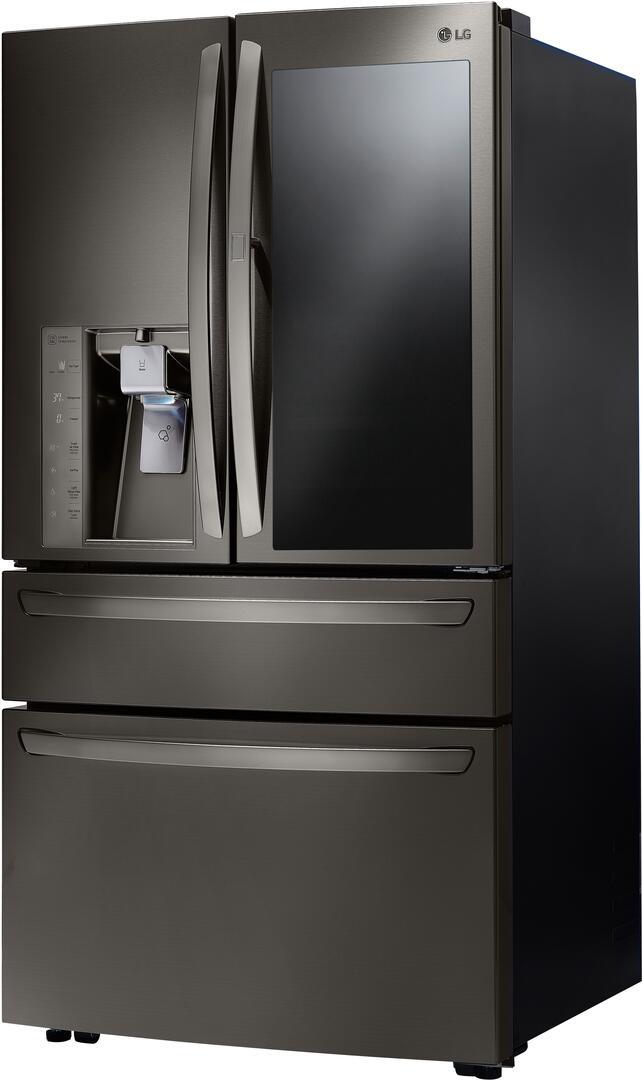lg refrigerator black stainless. lg black stainless steel left angle lg refrigerator