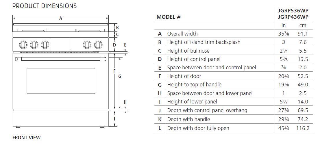 jenn air jgrp536wp 36 inch stainless steel gas. Black Bedroom Furniture Sets. Home Design Ideas