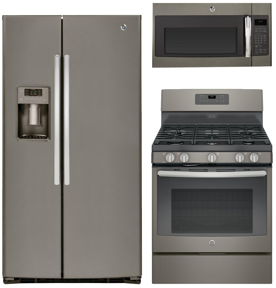 Ge ge3pcfssbs30gkit1 slate kitchen appliance packages - Ge kitchen appliances ...