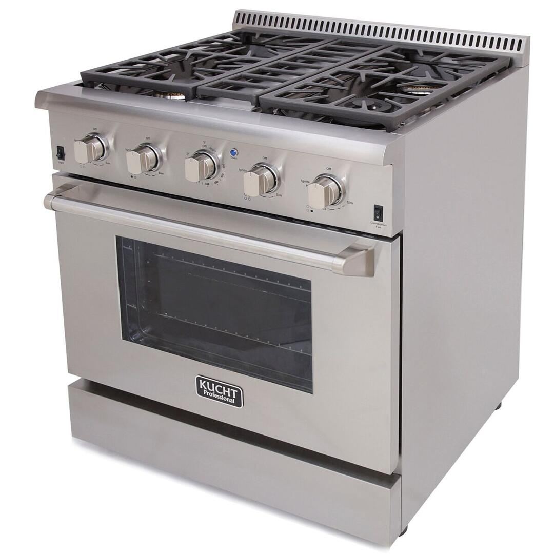 Kitchen gas stove top view -  Kucht Professional Side View