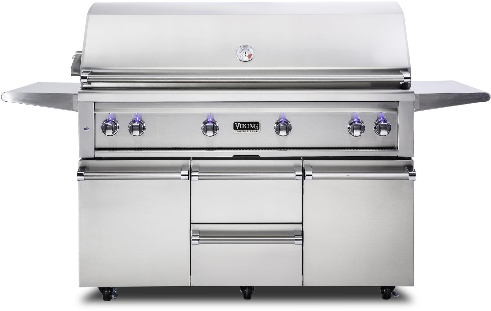 Viking Vqgfs5540nss Freestanding 80 Inch Natural Gas Grill