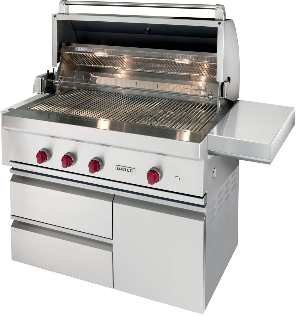 Wolf OG42 Built-In Grill, in Stainless Steel | Appliances Connection