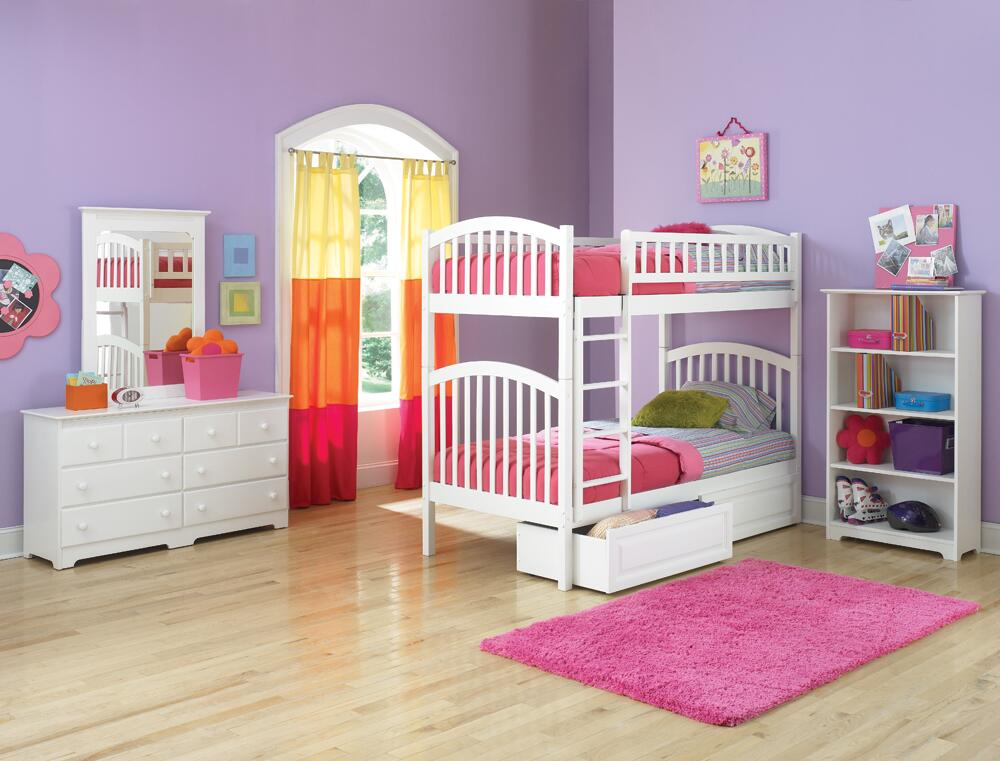 Atlantic furniture ybbrichmondtwintwinwh richmond series for Bunk bed and bang