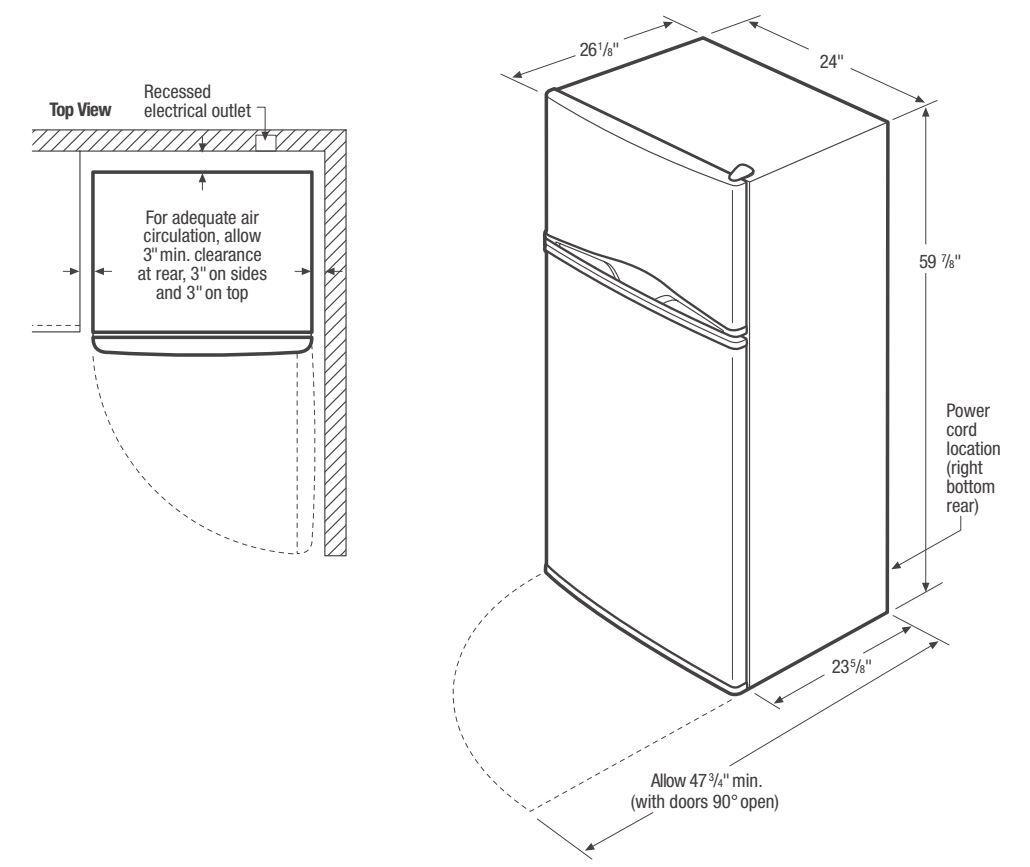 Frigidaire Fftr1022q 24 Quot Apartment Size Top Freezer