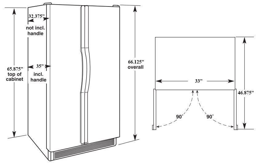 Maytag Msf21d4mdm 33 Inch Side By Side Refrigerator With