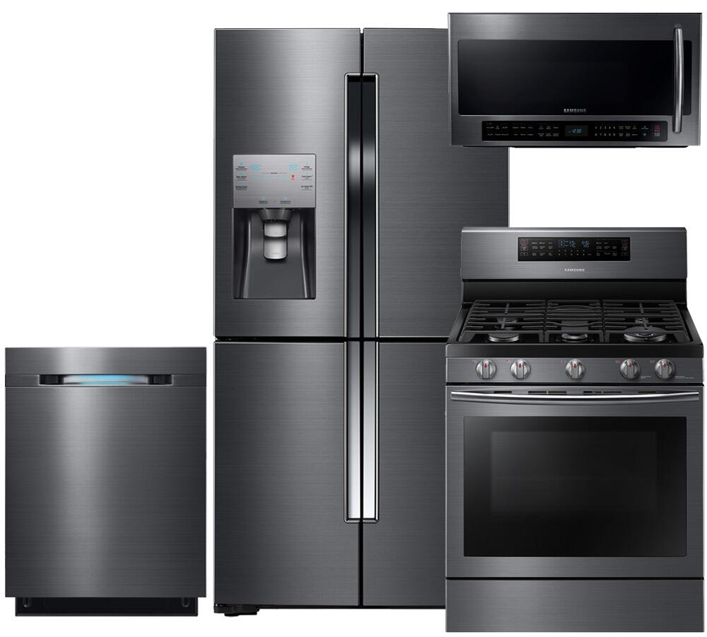 Kitchen Appliances Packages: Samsung Appliance 602714 Black Stainless Steel Kitchen