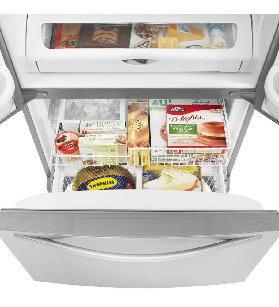 Whirlpool WRF535SMBM 36 Inch French Door Refrigerator with 25.2 cu ...
