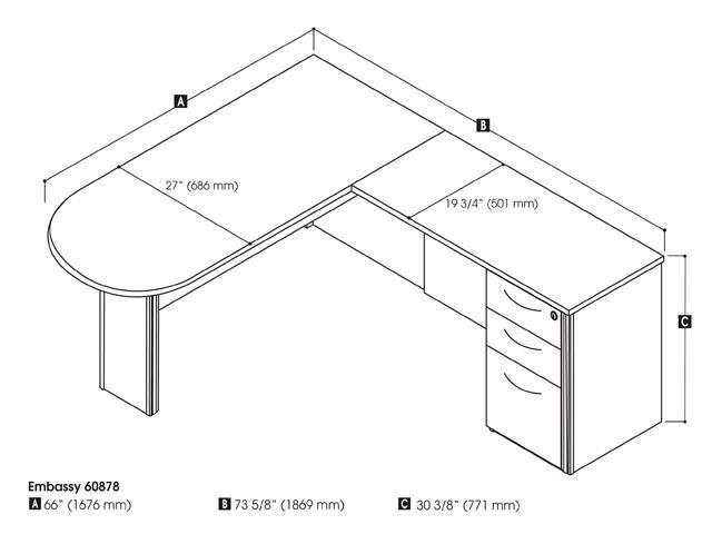 bestar furniture 6087863 modern l