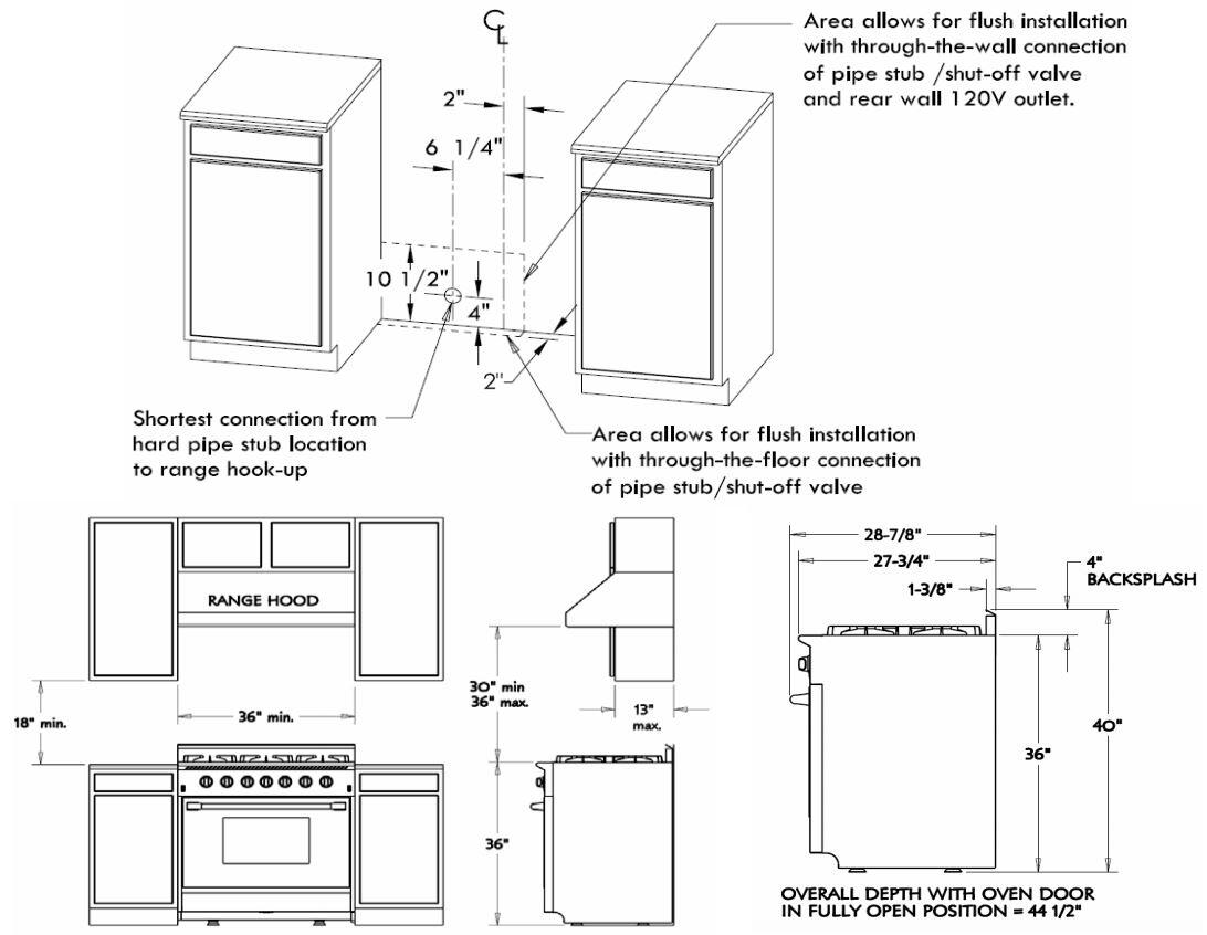 Nxr Drgb3602 36 Inch Stainless Steel Gas Freestanding Range With Wiring Diagram For Dacor Oven Next