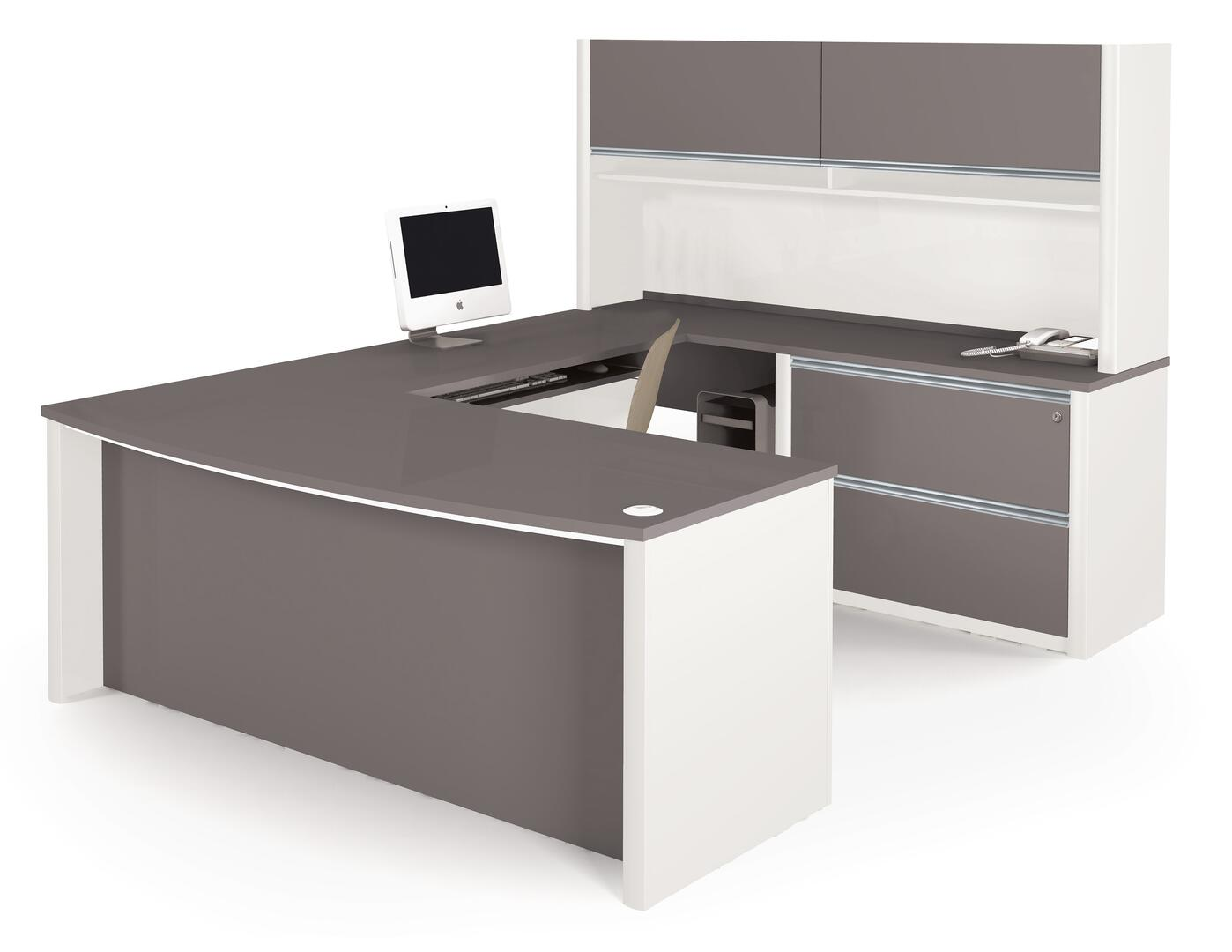 Bestar furniture 9387859 modern u shape office desk for Furniture connection
