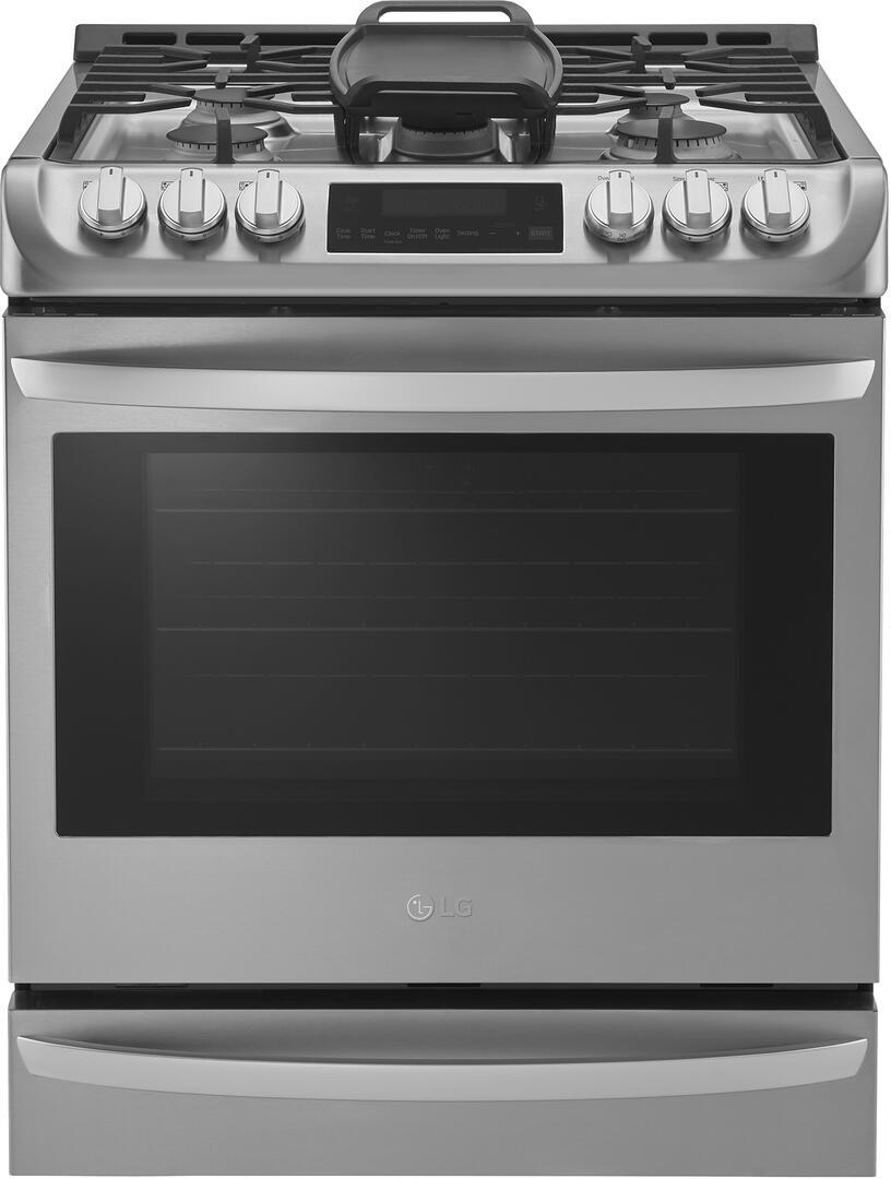 lg lsg4513st 30 inch stainless steel slide in gas range with sealed burner cooktop 6 3 cu ft. Black Bedroom Furniture Sets. Home Design Ideas