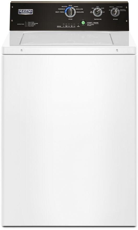 Maytag Mvwp575gw 27 Inch White 3 5 Cu Ft Top Load Washer