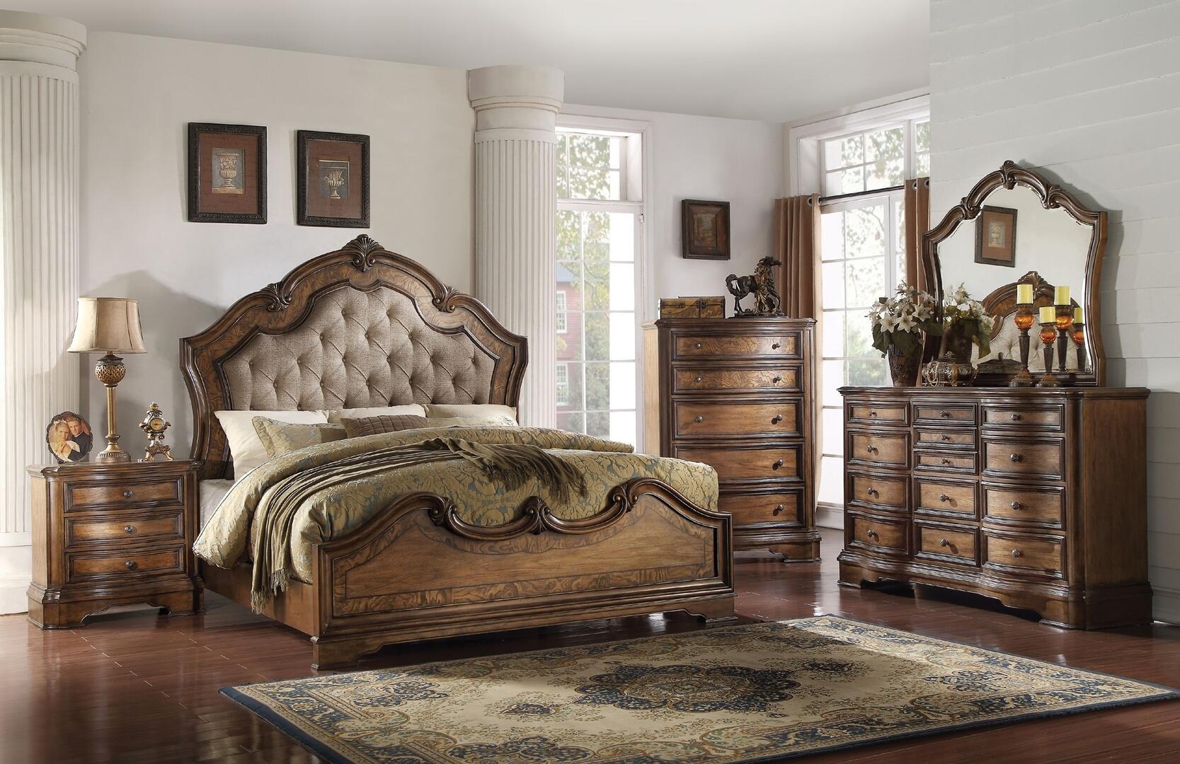 Acme Furniture 26167EKSET Valletta King Bedroom Sets | Appliances ...