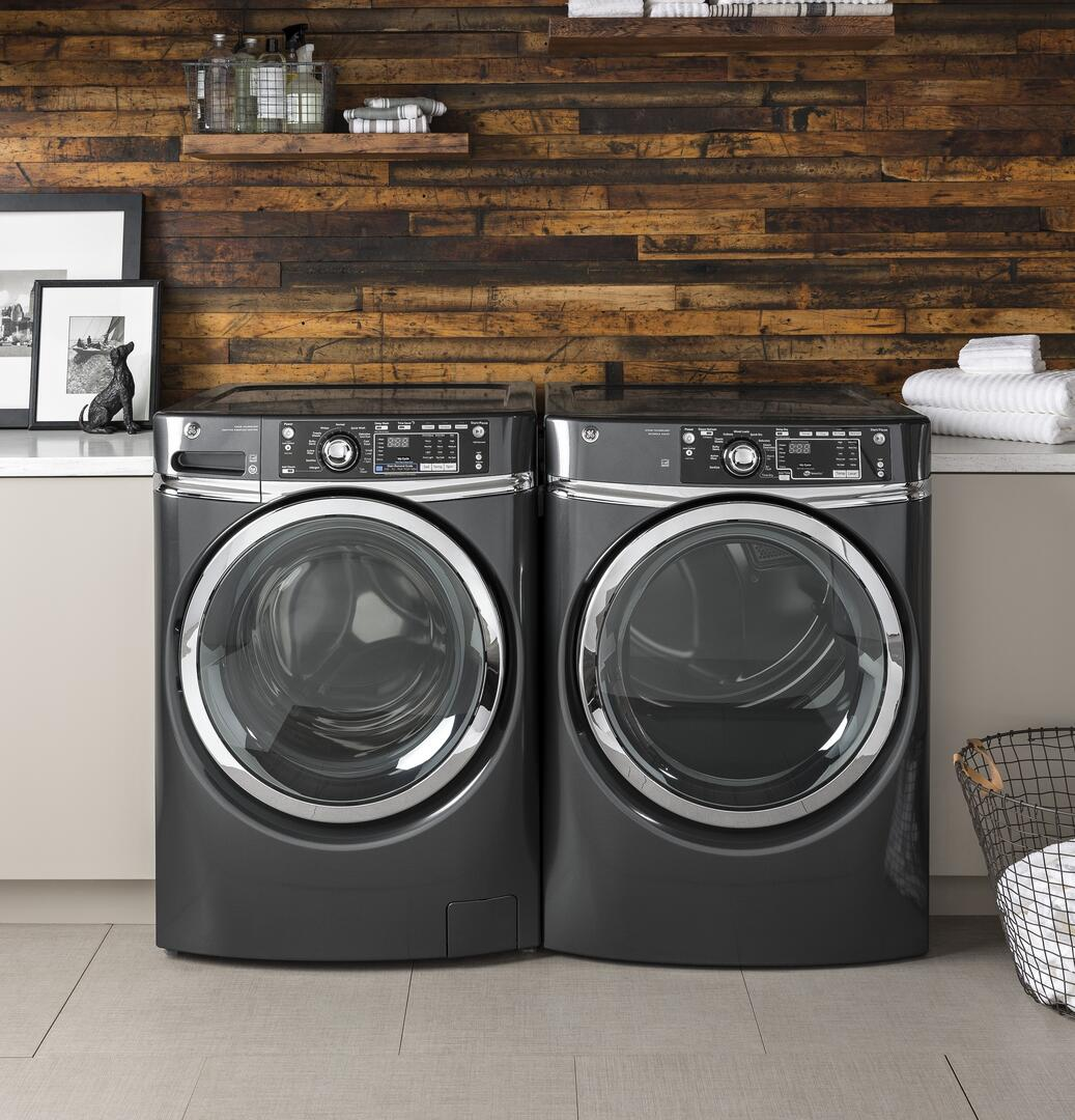 Ge Appliances Washing Machine Ge Gfd49erpkrr 28 Inch 83 Cu Ft Electric Dryer In Ruby Red