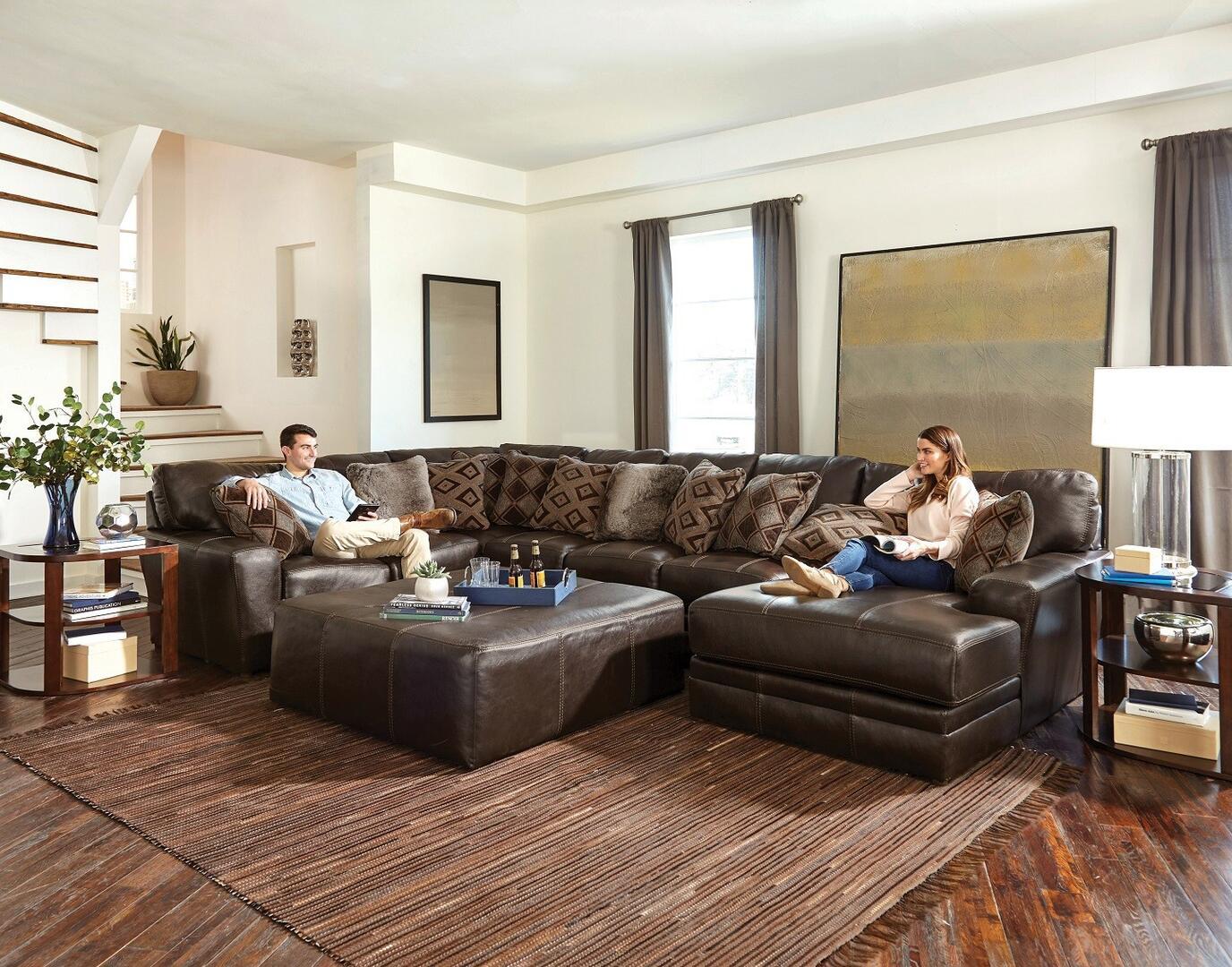 Jackson Furniture 4378623076128309308309 Denali Series Stationary Leather Sofa Appliances