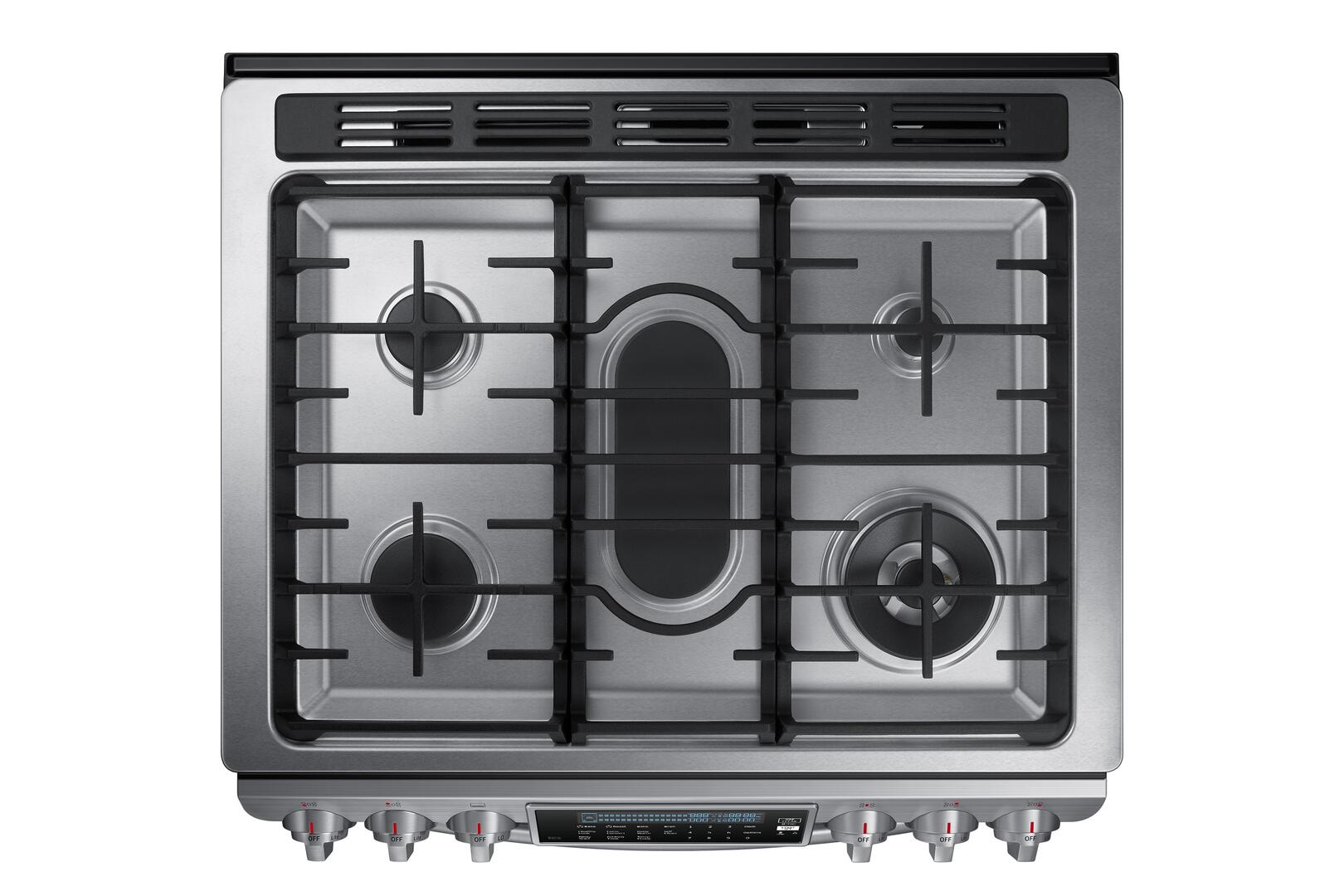 Kitchen gas stove top view -  Samsung Appliance Top View