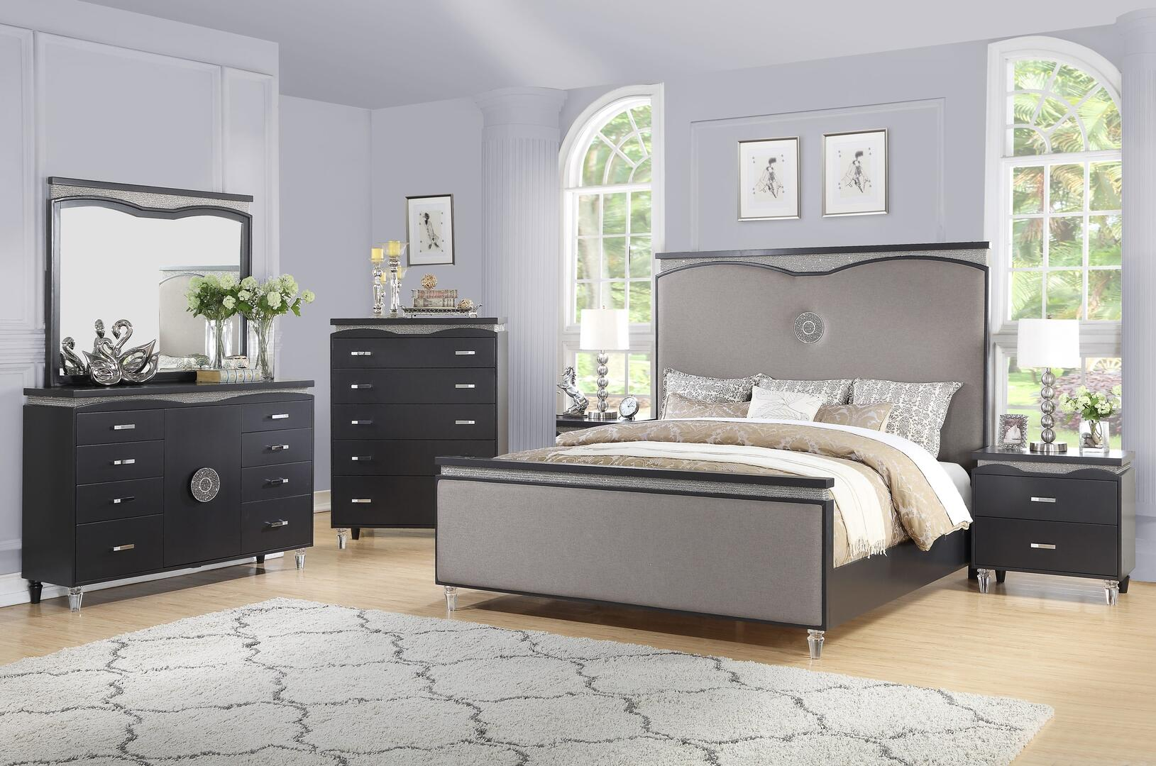 Cosmos Furniture Valencia 6 Piece King Size Bedroom Set