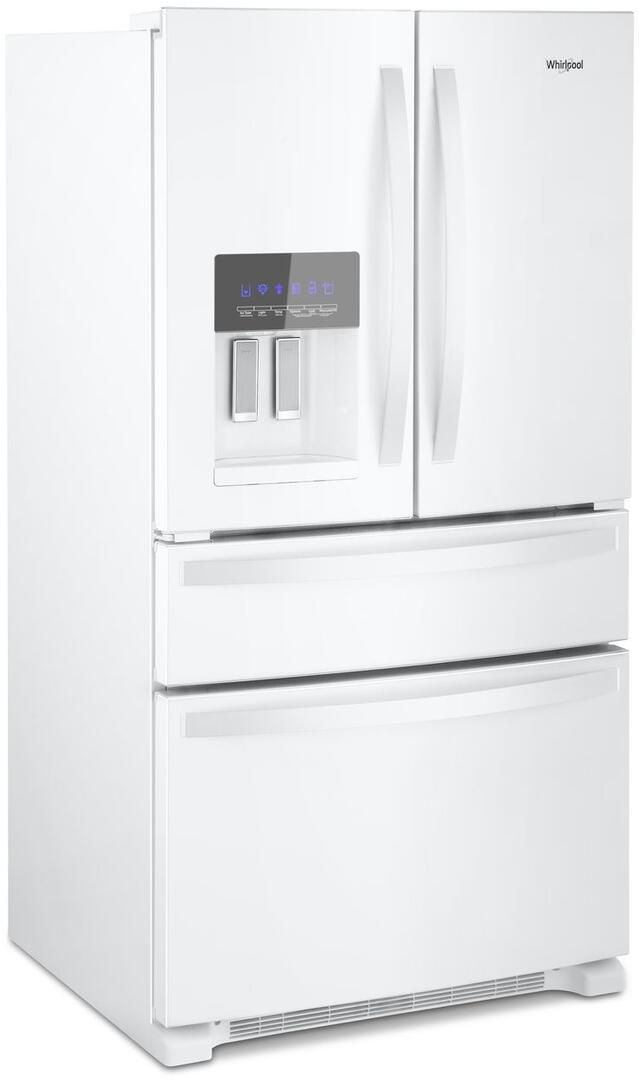 whirlpool side by side refrigerator white. whirlpool main image · side view by refrigerator white -