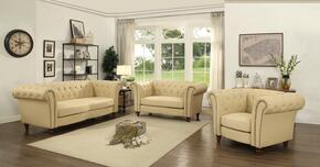 G752SET 3 PC Living Room Set with Sofa + Loveseat + Armchair in Beige Color