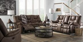 Burgett 92201883PC 3 PC Living Room Set with Reclining Sofa + Reclining Loveseat + Rocker Recliner in Espresso Color