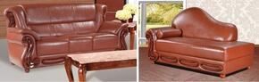 Bella 632-BR-S-CH 2 Piece Living Room Set with Sofa and Chaise in Brown