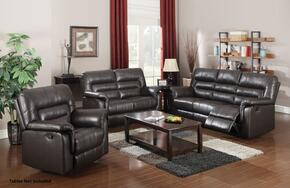 Neon 50840SLR 3 PC Living Room Set with Sofa + Loveseat + Recliner in Dark Brown Color