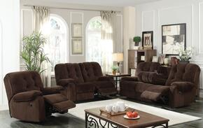 Nailah 51145SLR 3 PC Living Room Set with Sofa + Loveseat + Recliner in Chocolate Champion Color
