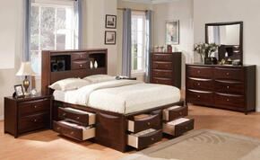 04067EKDMC2N Manhattan Storage Eastern King Size Bed + Dresser + Mirror + Chest + 2 Nightstands in Espresso Finish