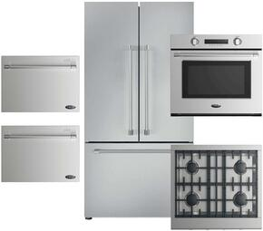 5-Piece Stainless Steel Kitchen Package with RF201ACJSX1 36