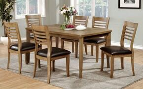 Dwight II Collection CM3988NTT6SC 7-Piece Dining Room Set with Rectangular Table and 6 Side Chairs in Natural Tone
