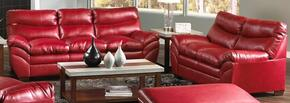 Soho 9515-0302 2 Piece Set including Sofa and Loveseat with Bonded Leather  in Cardinal