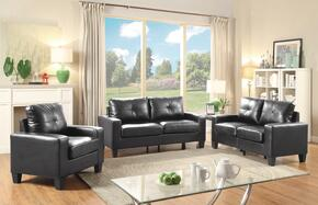 Newbury Collection G463ASET 3 PC Living Room Set with Sofa + Loveseat + Armchair in Black Color