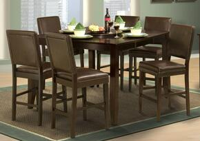 4500611CCC Style 19 Seven Piece Counter Height Dining Room Set with Table and Six Chairs, in Espresso