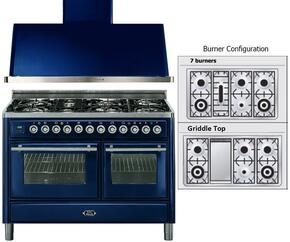 2-Piece Midnight Blue Kitchen Package with UMT120FDMPBL 48