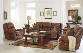 Walworth U78001SLR 3-Piece Living Room Set with Reclining Sofa, Reclining Loveseat and Rocker Recliner in Auburn