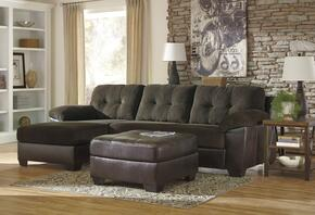 Vanleer 15900SSOL 2-Piece Living Room Set with Left Chaise Sectional Sofa and Ottoman in Chocolate