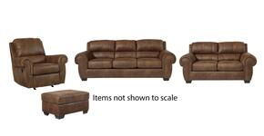 Burnsville Collection 97206SLRO 4-Piece Living Room Set with Sofa, Loveseat, Recliner and Ottoman in Espresso