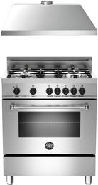 "2-Piece Stainless Steel Kitchen Package with MAS304DFMXELP 30"" Freestanding Liquid Propane Dual-Fuel Range and KU30PRO1XV 30"" 400 CFM Range Hood"