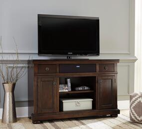 Porter Collection W697-120A31 2-Piece Set with TV Stand and W100-31 Small Integrated Audio Unit in Rustic Brown
