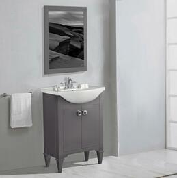 WLF6045-GKIT 24 Gray Sink Vanity, No Faucet with Mirror