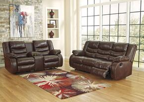 Linebacker DuraBlend 95201SL 2-Piece Living Room Set with Sofa and Loveseat in Espresso