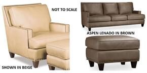 SS336 3-Piece Living Room Set with Aspen Lenado Stationary Sofa, Chair and Ottoman in Brown